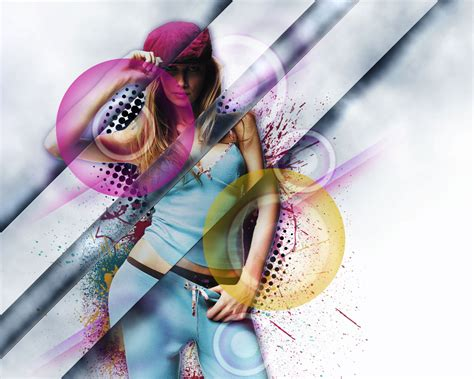 vector art photoshop cs5 tutorial design a stylish poster mixed with displacement effect in