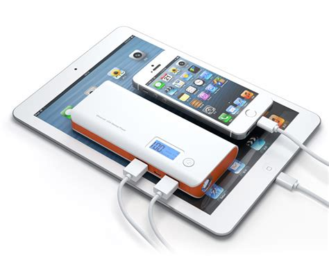 Power Bank Samsung 98 000mah power bank 20 000mah dual usb lcd display orange white