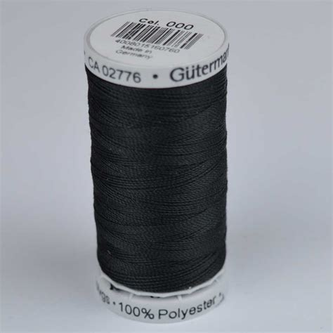 Upholstery Thread by Upholstery Thread 100m 000 Black Holm Sown