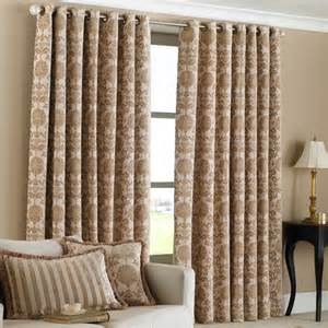Beige And Black Curtains Riva Paoletti Hanover Lined Ready Made Eyelet Ring Top Heavy Weight Woven Jacquard Damask
