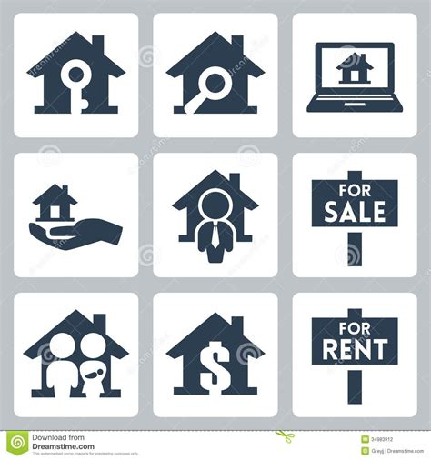 Vector Real Estate Icons Set Stock Photography   Image