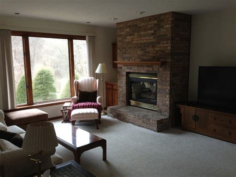 tv placement off center large fireplace and tv placement issues