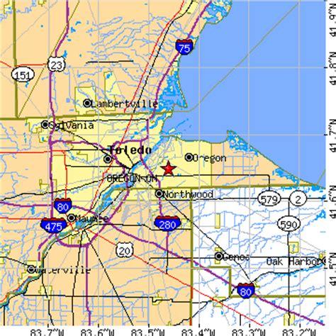 map of oregon ohio oregon ohio oh population data races housing economy