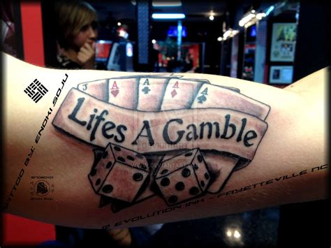 gamble tattoo designs images designs
