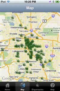 Colorado Dispensary Map by Colorado Medical Marijuana Dispensaries App For Ipad