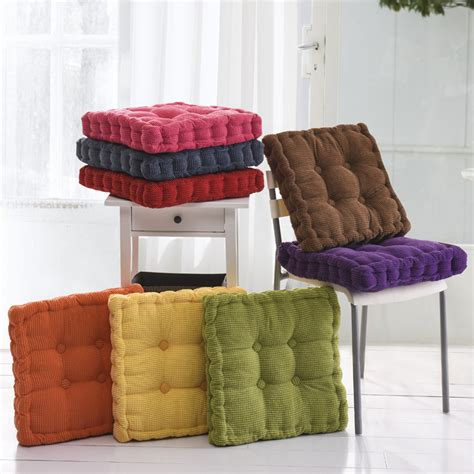 Futon 40x40 sunnyrain thick corduroy elastic chair cushions for