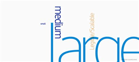 universal design font size design story samsungone the new universal typeface for