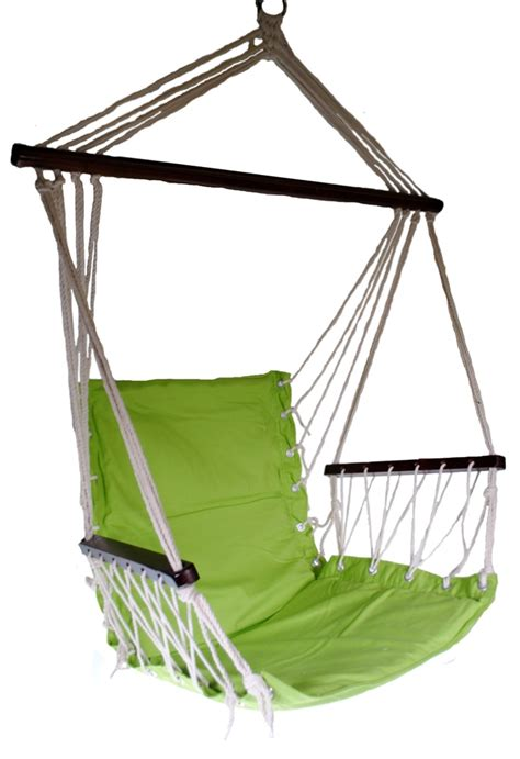 Omni patio swing seat hanging hammock cotton rope chair with cushion seat ebay