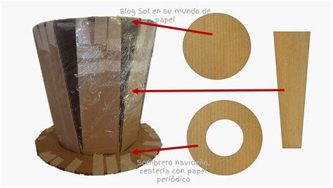 tutoriales un lugar para terapiarte papel mach 233 2 sombreros de papel molde sombrero navide 241 o cester 237
