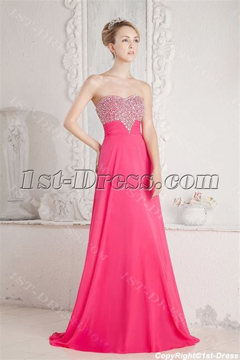 Hot Pink Princess Prom Dress 2013:1st dress.com