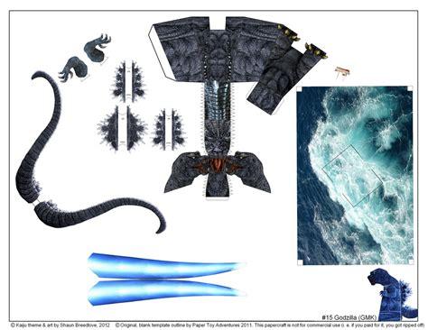 Papercraft Godzilla - godzilla gmk template shaun flickr