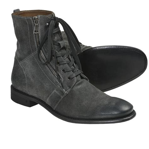 ago black side zip boots by varvatos mens zip up winter boots yu boots