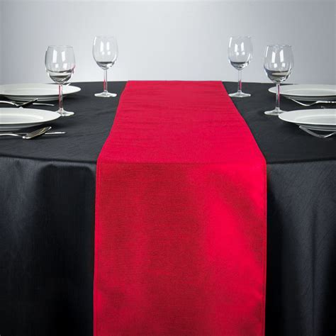 red table runner with 5 led lights 14 x 108 in shantung silk table runner navy blue