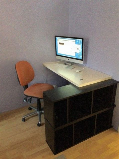 ikeahackers standing desk seated corner or standing desk with billy and linmon