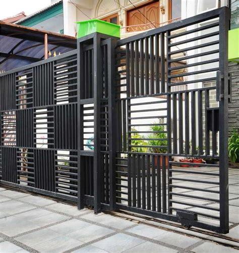 contoh model pintu pagar besi rumah terbaru contoh pintu