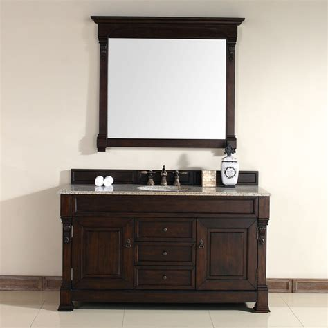60 Inch Bathroom Vanity Cabinet by 60 Inch Brookfield Burnished Mahogany Single Cabinet