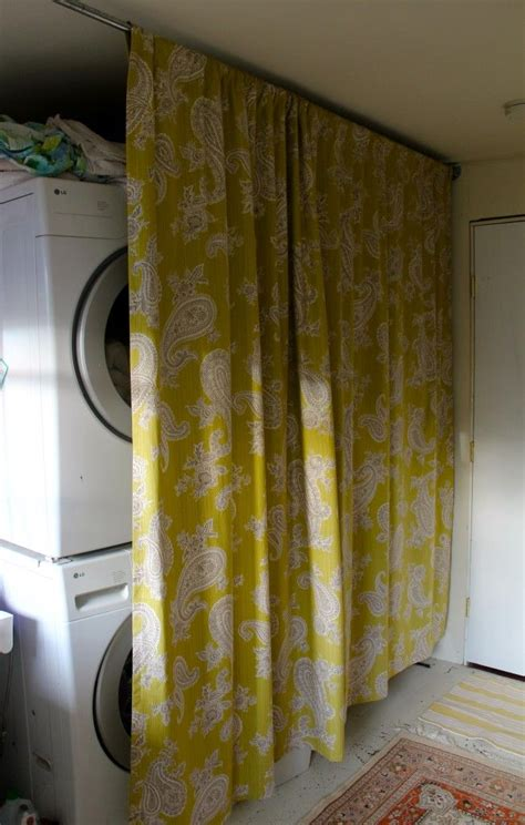 curtains to hide washer and dryer 15 laundry spaces that cleverly conceal their unsightly