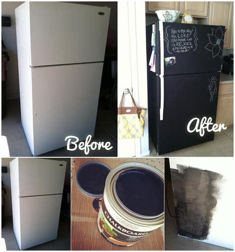 chalkboard paint on fridge diy home project paint your fridge using chalkboard paint