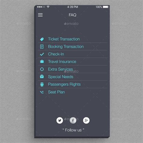 airways mobile airlines mobile app ui by equipeheros graphicriver