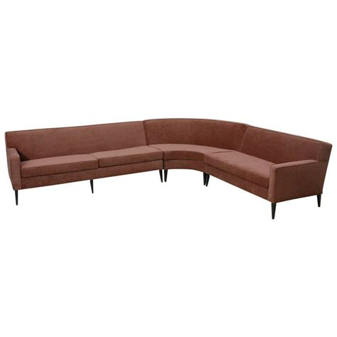 harvey probber curved sofa three piece curved sectional sofa by harvey probber at 1stdibs