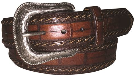 brown crocodile crocodile herm 200 s home decor vestiaire g bar d men s brown croc print belt sheplers