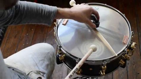 Tutorial Tuning Drum | snare drum tuning tutorial muting unwanted overtones on