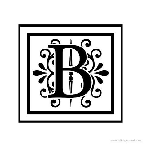 Decorative Letter B by Pin By Connie Grindle On Printables Images