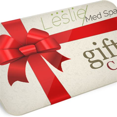 Facial Gift Cards - leslie med spa gift card leslie med spa