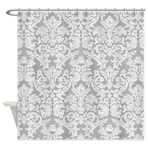 white curtains with gray pattern lace pattern white gray shower curtain by marshenterprises