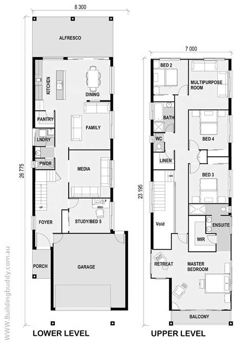 Three Story House Plans Narrow Lot by 1000 Ideas About Narrow House Plans On Duplex