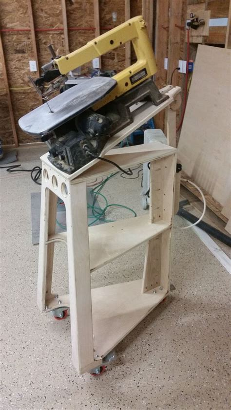 scroll saw bench diy woodworking home decor and saw stand on pinterest