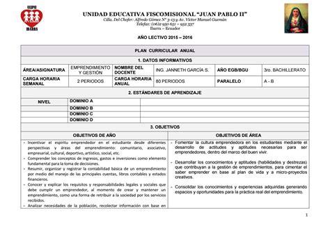 planificaciones educacin primaria planificaciones emprendimiento by janneth garc 237 a santill 225 n