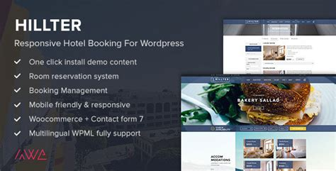 full version wordpress themes hillter v1 13 6 responsive hotel booking theme for