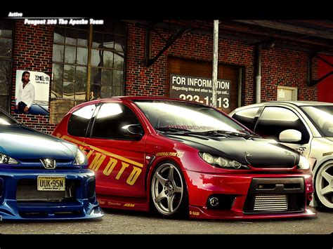 pejo second car and cars gallery modifications for the peugeot 206