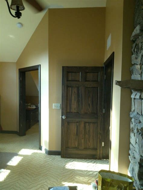 stained interior doors minwax oil stain ebony  color