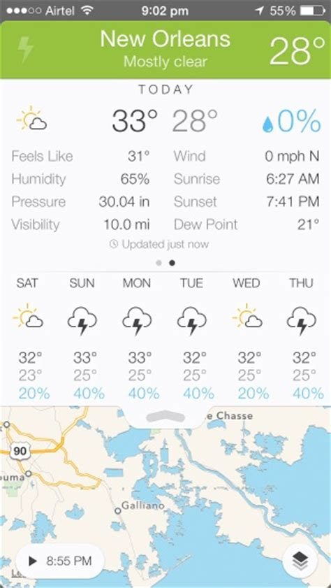 visualization of the week forecasting the best weather apps for iphone