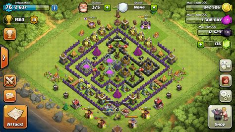 layout coc th8 4 mortar gallery for gt farming base th8 4 mortar