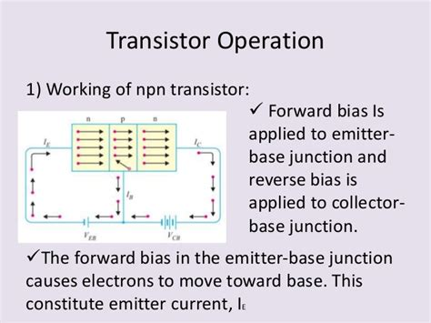 npn transistor forward bias presentation on bipolar junction transistor