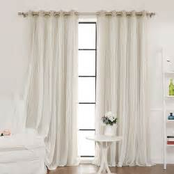 Beige And Pink Curtains Decorating Best Home Fashion Inc Lace Tulle Overlay Blackout Curtain Panel Reviews Wayfair