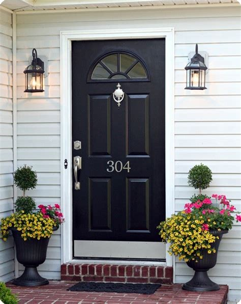 Black Kick Plates For Front Doors Add A Door Knocker And Kick Plate Curb Appeal Ideas Easy The White