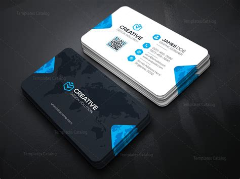 Creative Company Business Card Template 000036 Template Catalog Tech Business Card Template