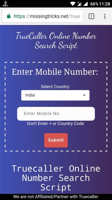 Best Way To Lookup A Phone Number Truecaller Script Search Phone Number Get Info