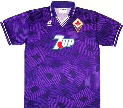 Fiorentina Home 6 1992 93 fiorentina home shirt xl football kits soccer