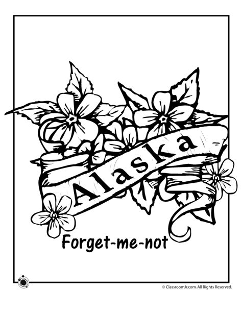 Alaska State Flower Coloring Page Ss Alaska Pinterest Alaska Coloring Pages