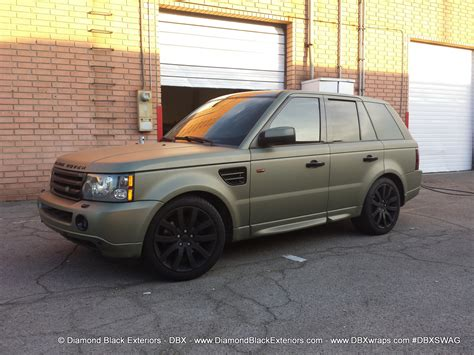 wrapped range rover sport range rover sport hse wrapped in frozen green midnight