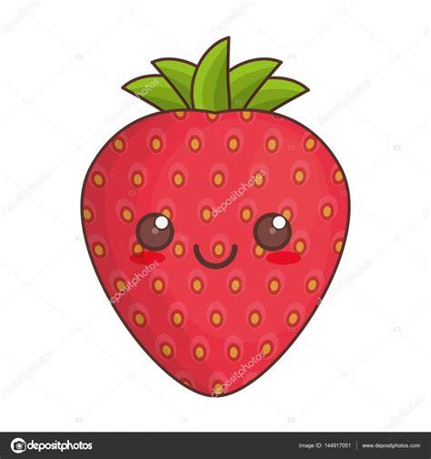 imagenes de fresas kawaii icona di fragola frutta kawaii vettoriali stock 169 djv