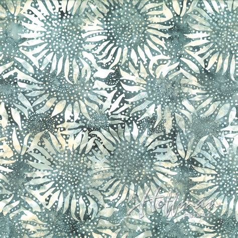 Batik Quilting Fabrics by Seagull 884 Hoffman Bali Batik Sunflower Batik