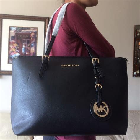 M Hael Kors Black Tote Bag Replika michael kors replica mk tote bag from s closet on