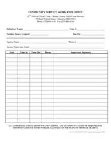 Community Service Log Sheet Template by Community Service Hours Worksheet Humorholics