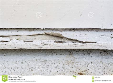 exterior paint peeling paint peeling exterior wooden window sill stock photo